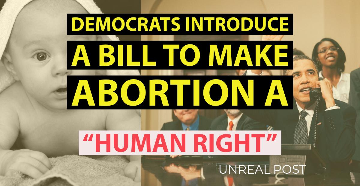 Democrats introduce bill to make abortion a human right
