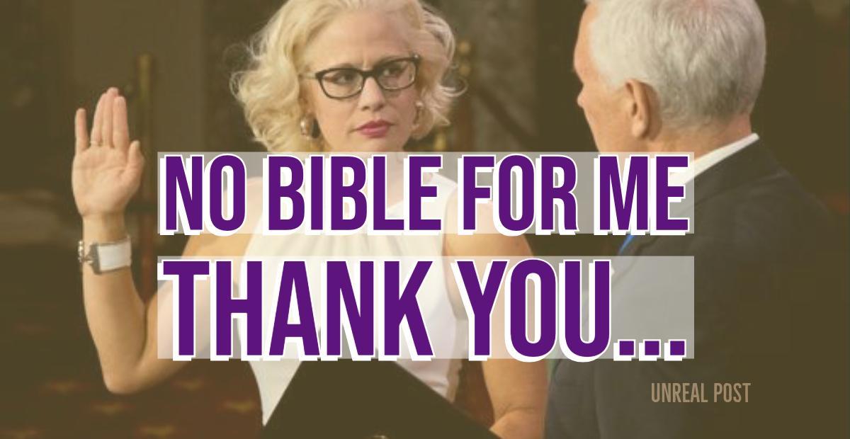 Newly elected senator Kyrsten Sinema refuses to use Bible