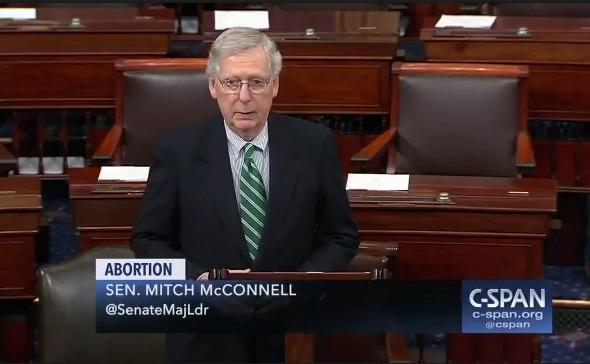 Mitch McConnell: Democrats Can Run But They Can't Hide, We Will Make Them Go on Record Defending Infanticide