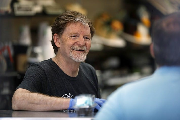The Shake Down of Jack Phillips Slapped by the Thuggish LGBTQ Crowd
