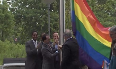Rainbow pride flag replaces POW/MIA flag at veterans memorial plaza — and public outcry is ignited