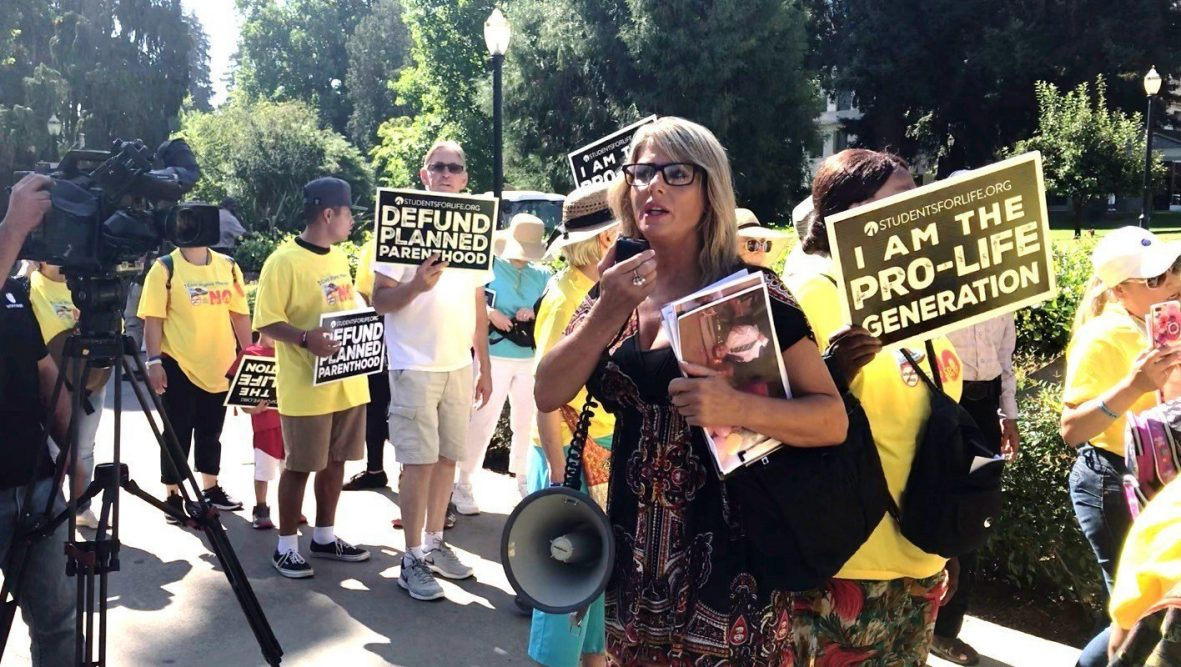 Sacramento Mother of Twins Leads Pro-Life March Against College Abortion Bill