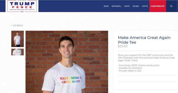 Trump Official Site Selling Pride T-Shirt, Hat to 'Show Your Support for the LGBT Community and the President' | Christian News Network