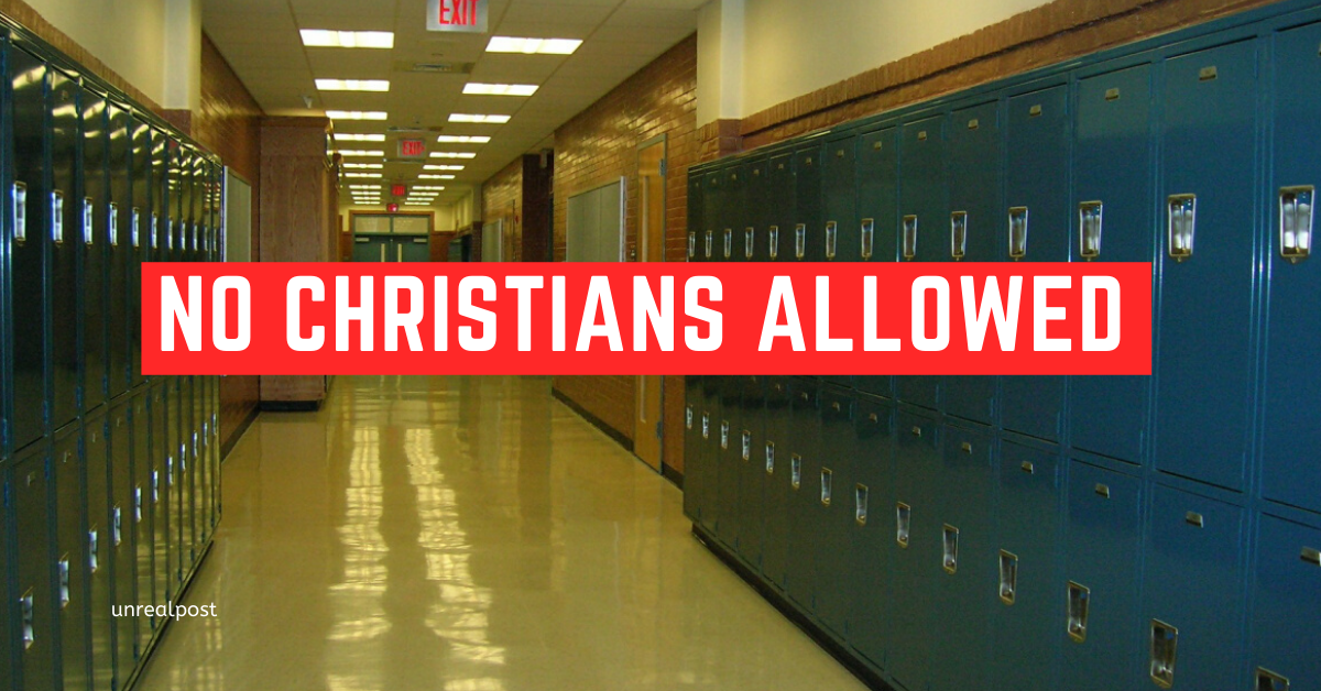 No Christians allowed in High Schools anymore