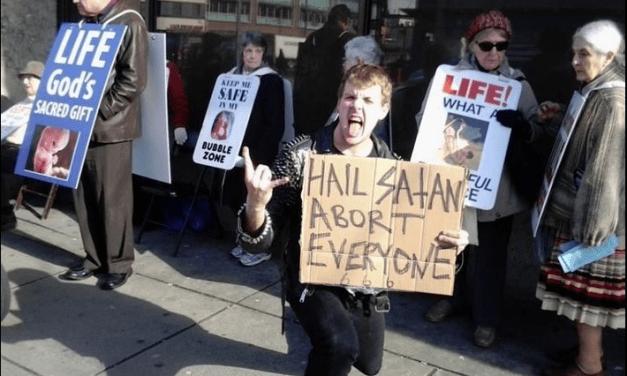"Abortion Activists Masturbate, Throw Glass and Yell ""Hail Satan"" at Students Praying Outside Abortion Clinic"