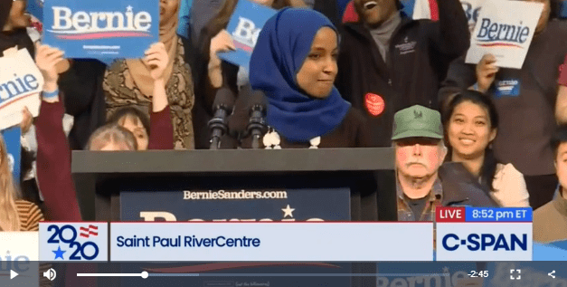 Ilhan Omar Introduces Sanders: Tells Crowd to Hold Hands, 'Fight for Somebody We Don't Know'