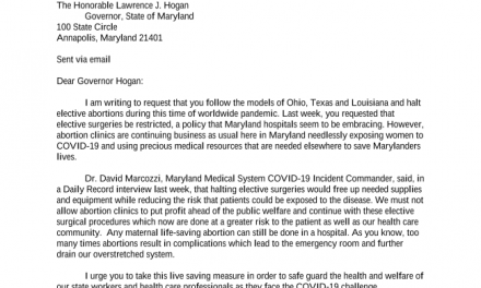 Maryland Orders Abortion Clinics to Close During Coronavirus Crisis, Abortions are Not Essential