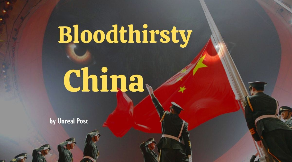 China is the most bloodthirsty entity in the world