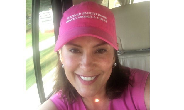 Michigan Gov. Gretchen Whitmer Celebrates Killing Babies With Planned Parenthood Hat