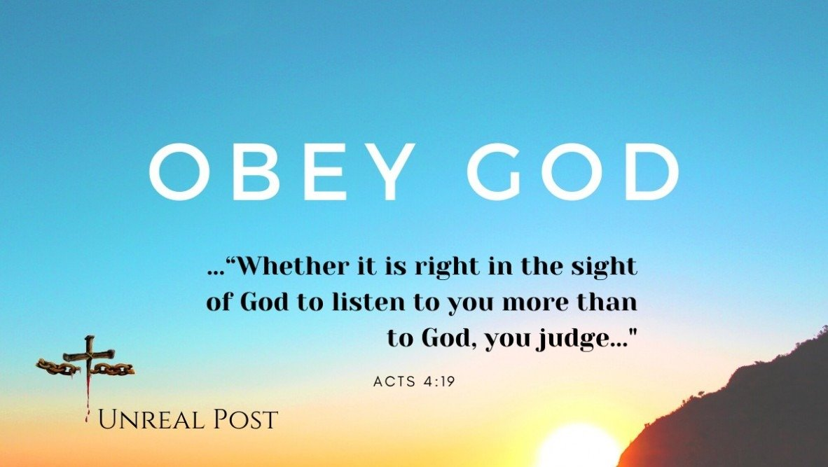 Christians are to obey God