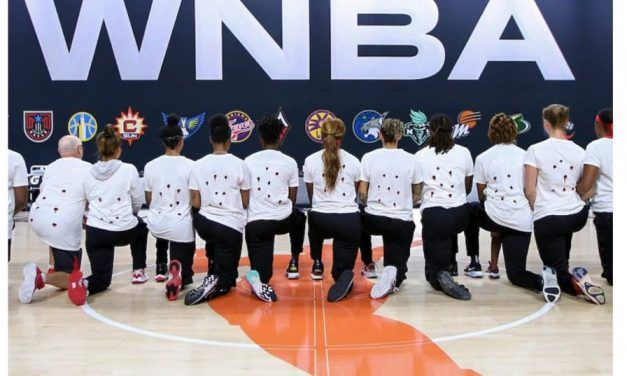 Social Justice GURU'S From the WNBA'S Washington Mystics Wear Shirts with Bullet Holes to Support Jacob Blake who Sexually Assaulted His Ex-Girlfriend Multiple Times