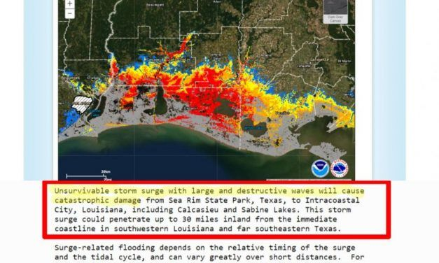 """!!!WARNING!!! Louisiana and Texas Hurricane Laura is a Category 4 'Unsurvivable Storm Surge' Up to 20 Feet """"Evacuate Immediately"""" 'Storm Surge Could Surge Inland 30 Miles"""""""