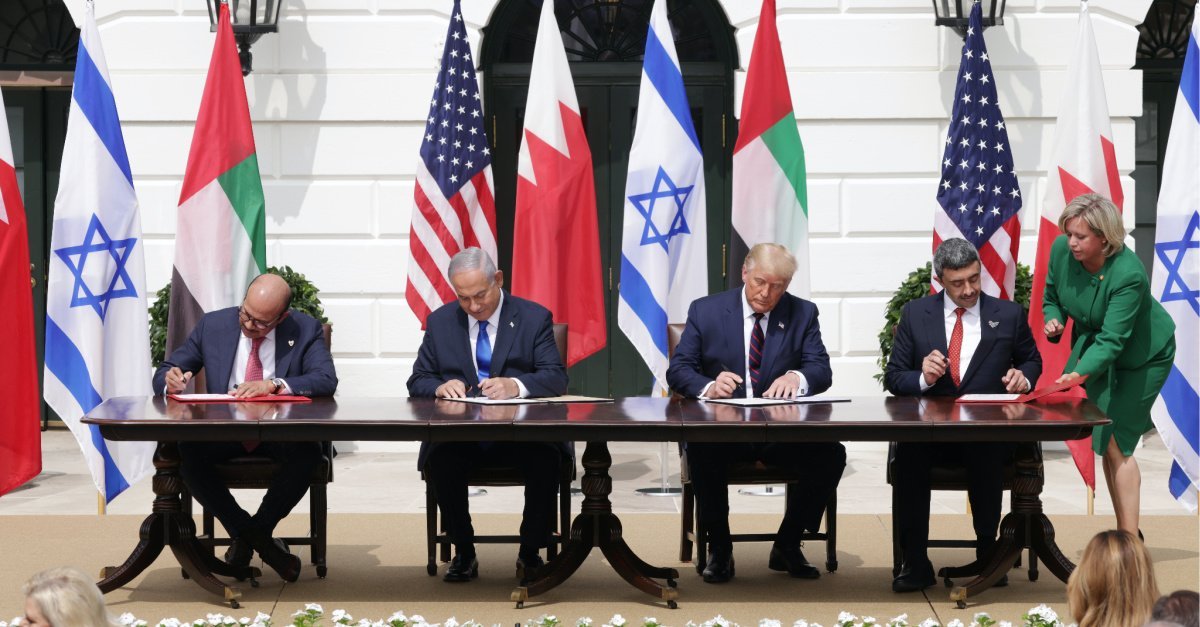 Representatives for Israel, the UAE Sign Peace Agreement at the White House
