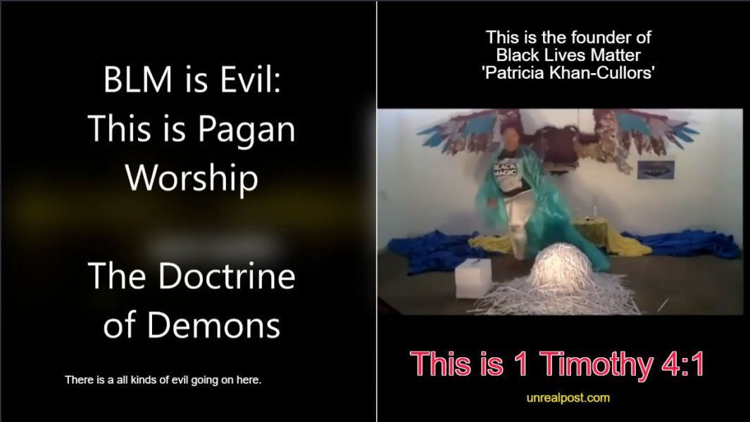 Yes Black Live Matter is a Spiritual Movement [Watch Video of Pagan Worship]