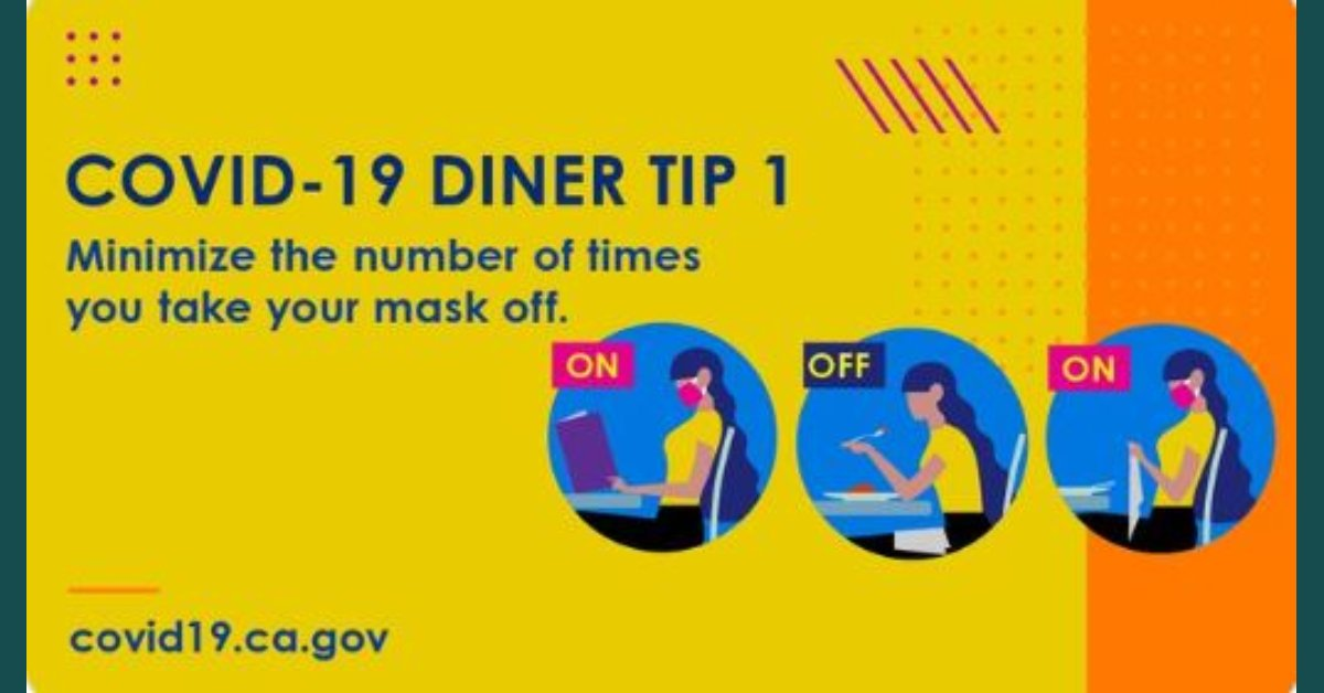 When Tyranny and Stupidity Collide: 'Keep Your Mask on in Between Bites': California Releases COVID Dining 'Tips'