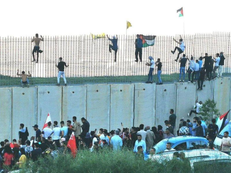 Video of Lebanon Army Stopping Lebanese Militants from Attacking Israel Border Fence