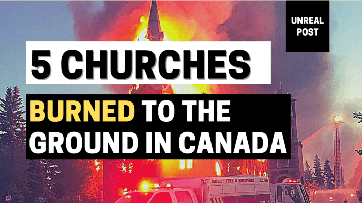 5 Christian Churches burned to the ground in one week