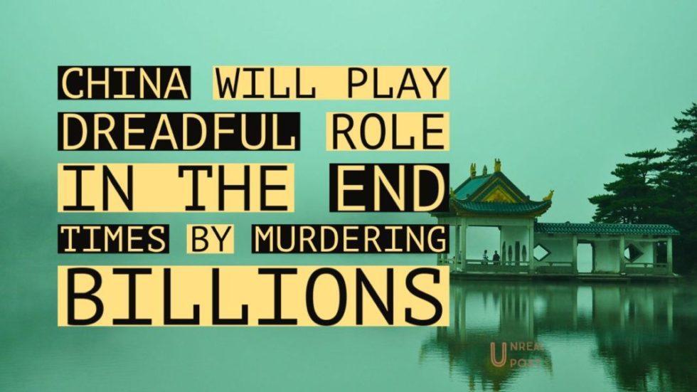 China will kill billions